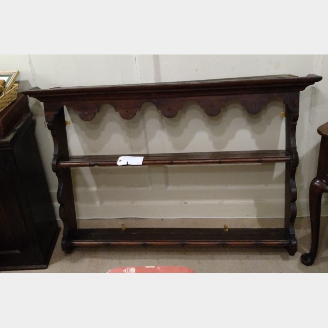 Late 18th Century Oak Plate Rack